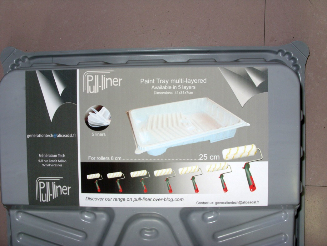 PVC recycled multilayer thermoformed paint roller tray