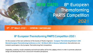 Thermoforming Parts Competition 2021 Form