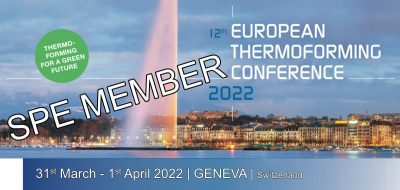 SPE Member Ticket Thermoforming Conference